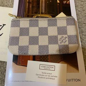 Louis Vuitton Damier Azur key Pochette Cles